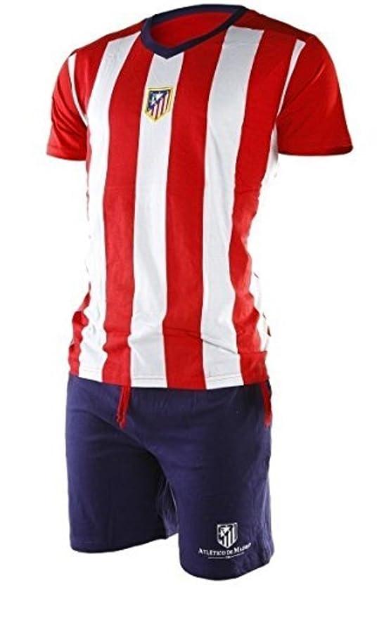 Atletico Madrid Pijama oficial Hombre Escudo Antiguo (M): Amazon.es: Ropa y accesorios