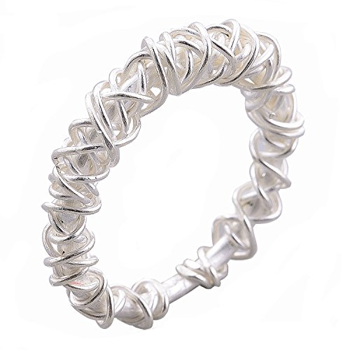 - Woven Ring Thai Karen Hill Tribe Pure Silver Handmade (6)
