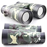 7TECH Adjustable Compass Binoculars For Kids Camouflage Educational Outdoor Toys Green