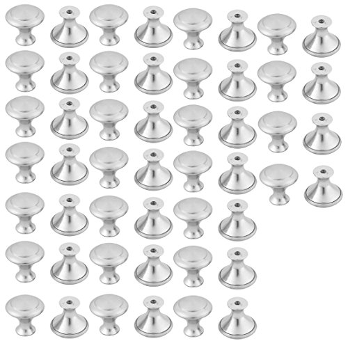 uxcell Metal Furniture Screw Fixed Cabinet Door Drawer Handle Pull Knob 23mm Dia 50pcs by uxcell