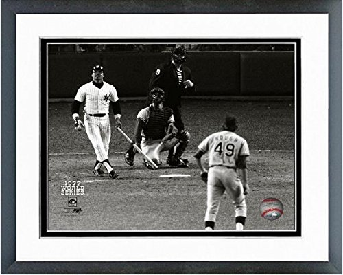 Reggie Jackson New York Yankees 1977 World Series Game 6 Home Run #3 Photo (Size: 12.5