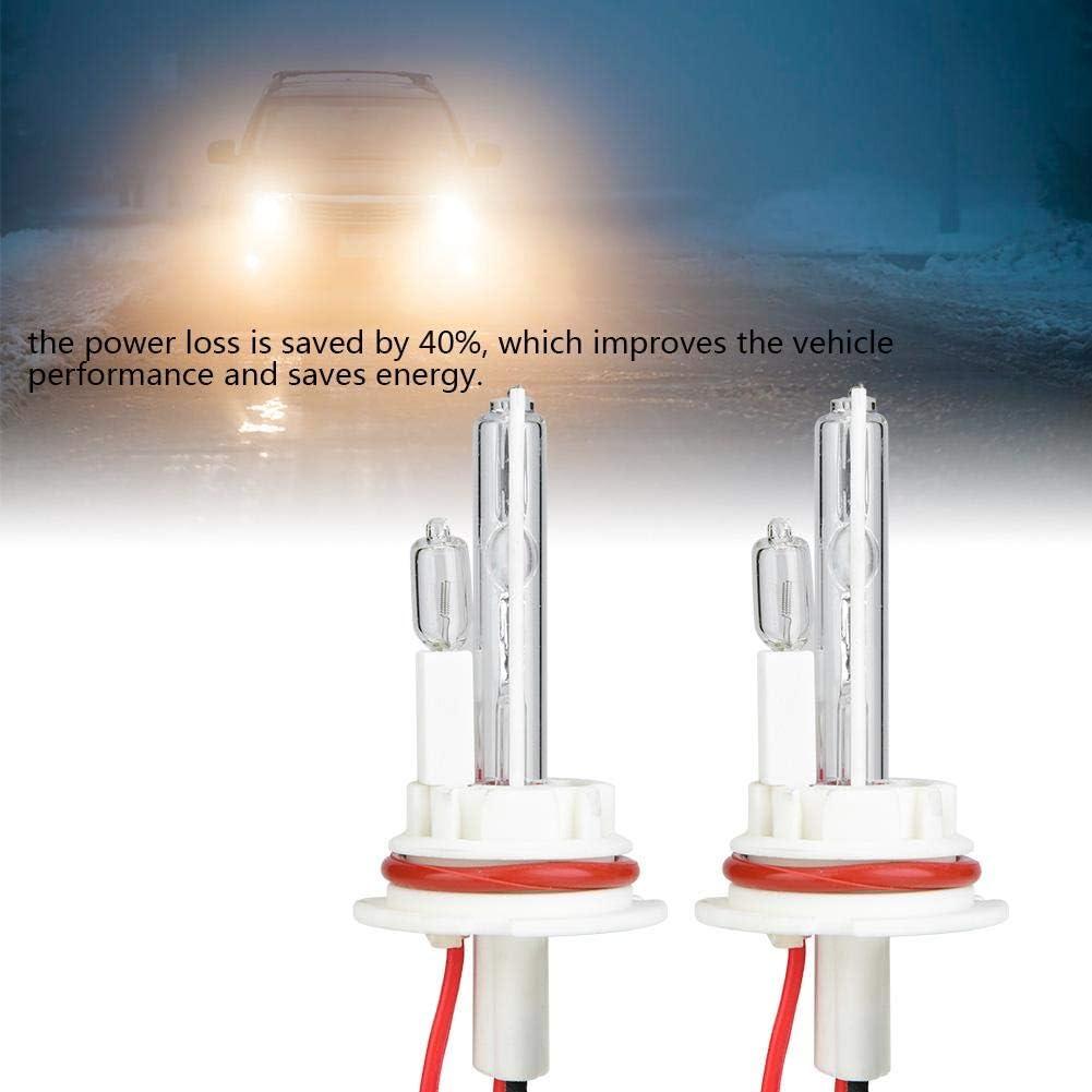 Cuque 9007-2 Xenon Headlight Bulbs 2PCS 6000K 100W Kit Hi-Lo Bi-Xenon Ceramic Base Car Headlights Xenon Bulb Xenon Lamp Replacement Bulbs