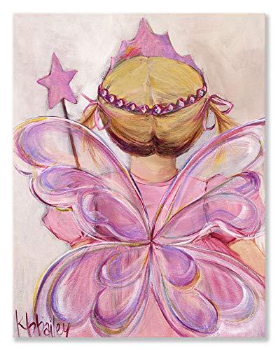 Fairy Princess Canvas - Oopsy Daisy Fine Art for Kids Little Fairy Princess Blonde Canvas Wall Art by Kristina Bass Bailey, 14 x 18
