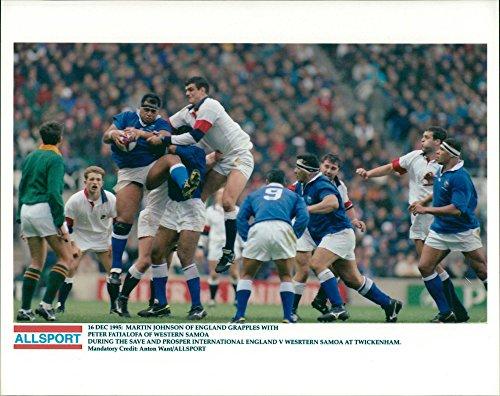 Vintage photo of Rugby Football: Save and Prosper International England v Western Samoa