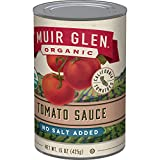 Muir Glen Organic Tomato Sauce, No Salt & No Sugar Added, 15 Ounce Can