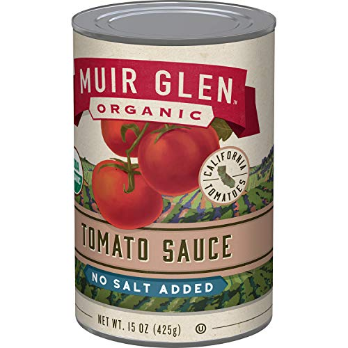 Muir Glen Organic No Salt Added Tomatoes, 15 oz (Pack of 12) (Best Pasta Sauce Brand)