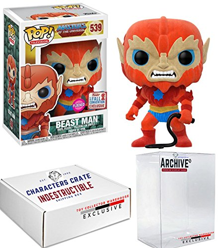 Funko Pop! NYCC Masters of the Universe Flocked Beast Man, Limited Edition Fall Convention Exclusive, Concierge Collectors Bundle