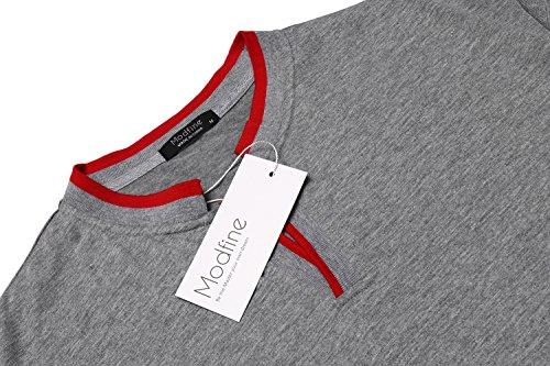 Zuckerfan Men's Polo Casual Slim Fit Short Sleeve Polo Shirts(Grey,L) by Zuckerfan (Image #4)