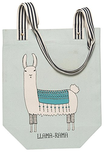 Danica Studio Studio Cotton Tote Bag, Llamarama