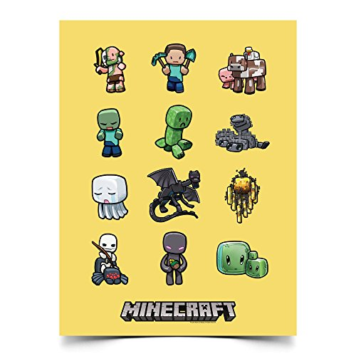 Minecraft Creatures Poster