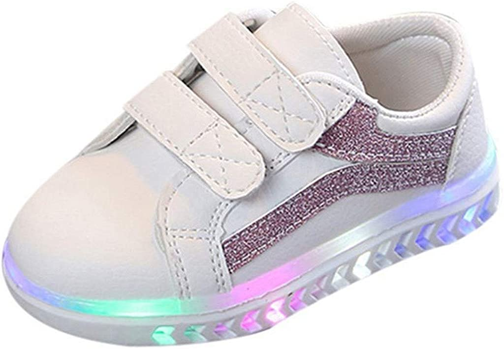 Kids LED Luminous Sneakers USB Charging Breathable Sneakers Light Up Shoes Running Sneakers for Children Gift JHKUNO