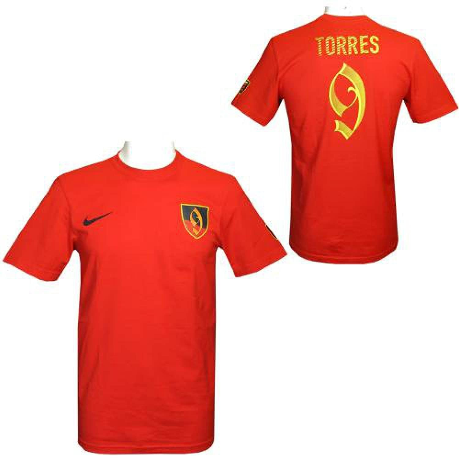 Official Atletico Madrid FC Mens Torres Nike Hero T-Shirt (Large)