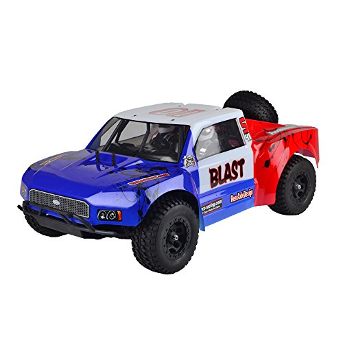 VRX Racing Cobra Blast 4WD Brushed Electric SC Truck w/2.4GHz Radio, 8.4V Vehicle Battery and Charger Included (1/8 Scale)