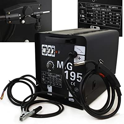 195 Amp MIG MAG Welding Machine Gas/ No Gas 220 v Welder Flux Stainless