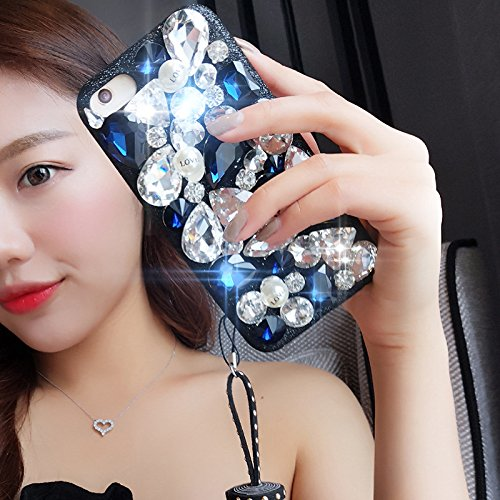 Full Rhinestones Diamond Bling - iPhone 6S Case,iPhone 6S Case,iPhone 6 Case,ikasus Tassel Pendant 3D Handmade Bling Rhinestone Diamonds Luxury Sparkle Rhinestones Case Full Crystals Bling Diamond Case Cover for iPhone 6S/6 4.7