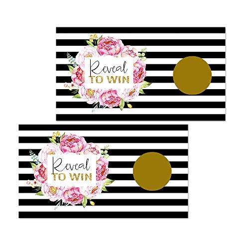 Paper Clever Party Elegant Floral Scratch Off Games (Pack of 28 Cards) Wedding or Baby ()