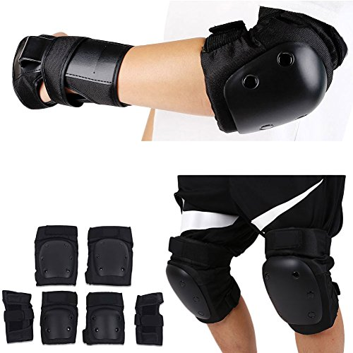 Forfar 6Pcs/Set Skateboarding Protector Skating Kneecap Elbow Hand Guard Thicke Protective Gear Pads for Outdoor Activities by Forfar
