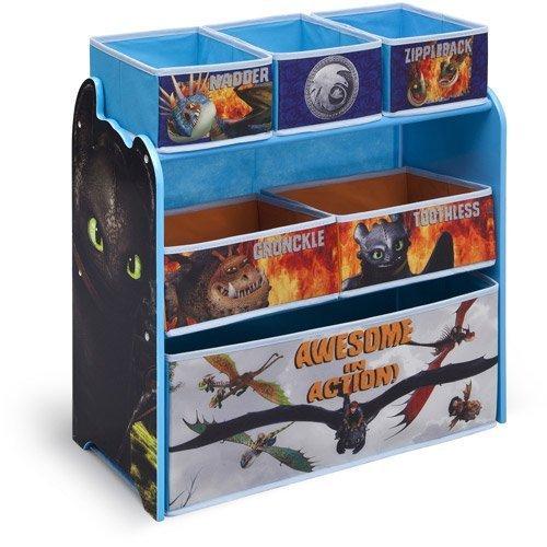 Delta Children's Products How to Train Your Dragon Multi-Bin Organizer