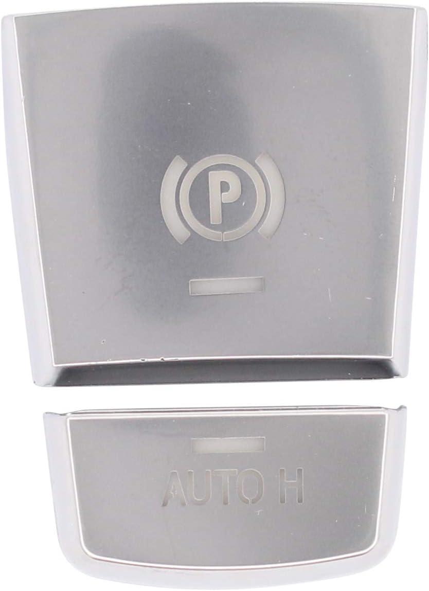 XtremeAmazing Parking Brake Auto Hold H P Button Sticker Cover Switch Cap Handbrake Trim Chromed