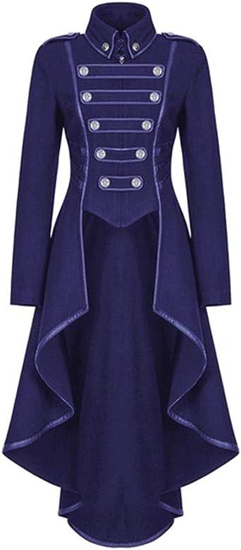 PengGengA Donna Uniforme Gotico Lungo Cappotto Vitoria