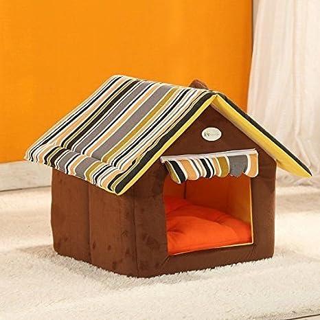Dometool - Casas para perros con forma de casa de Reino Unido, extraíbles, plegables