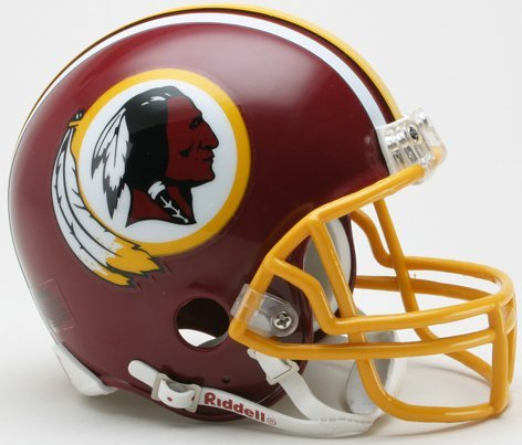 (Washington Redskins 1982 Riddell VSR4 Mini Replica Football Helmet)