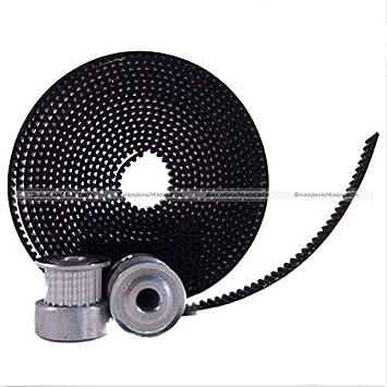 SUNKEE GT2 20 Tooth Timing Pulleys and 2 Meters of GT2 Belt 3D Printing CNC Reprap