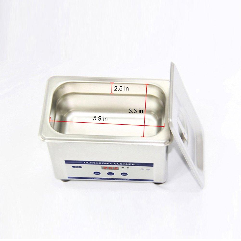 Zantec Vorz/üglicher Edelstahl Ultraschallreiniger des Ultraschall 800ML Digital Ultraschall Wellen Wascheinheit