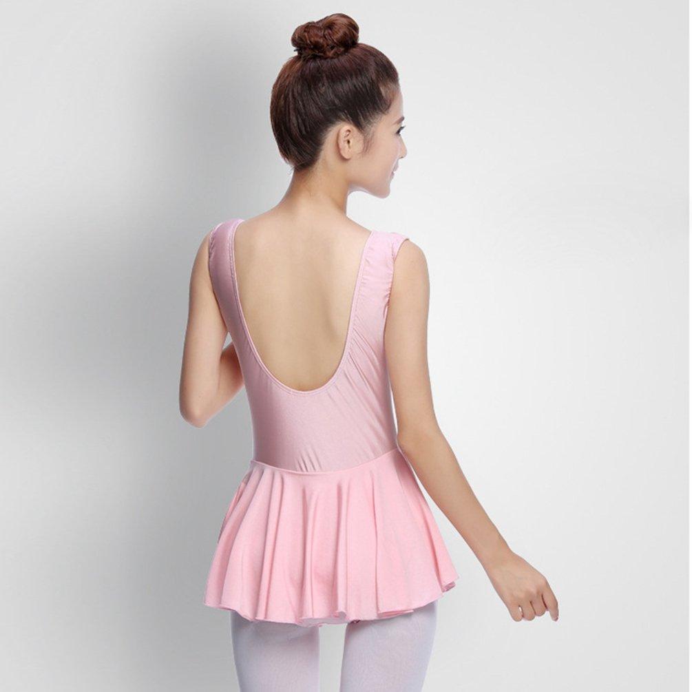 LINNUO Donna tut/ù da Danza Maglia Gilet Body da Danza Abbigliamento Body da Danza