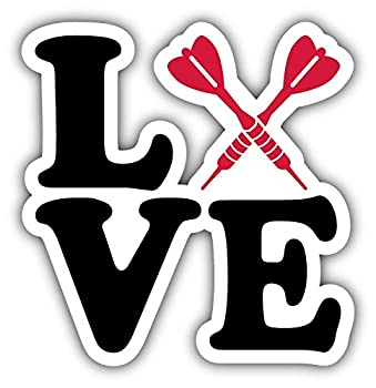 Love Darts Home Decal Vinyl Sticker 5'' X 5''