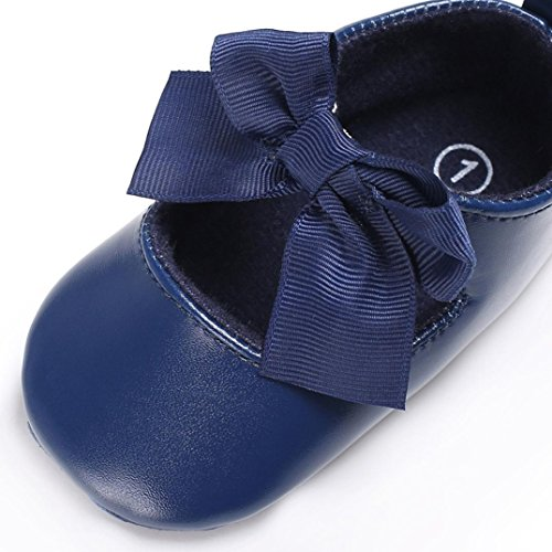 Igemy 1 Paar Baby Bowknot Prinzessin Weiche Sole Schuhe Kleinkind Sneakers Casual Schuhe Marine