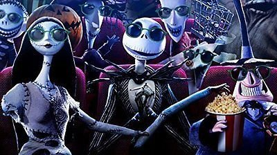SDore NIGHTMARE BEFORE CHRISTMAS MOVIE Edible 1/2 Half Sheet Image Frosting Cake Topper Birthday Deco by SDore