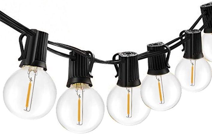 Ysoom - Cadena de Luces LED para Exterior, jardín, terraza, Exterior, Blanco cálido, Guirnalda de Luces, Impermeable, Interior/Exterior, 4 Modos, para Patio de terraza, Xmas 10/25 LED: Amazon.es: Hogar