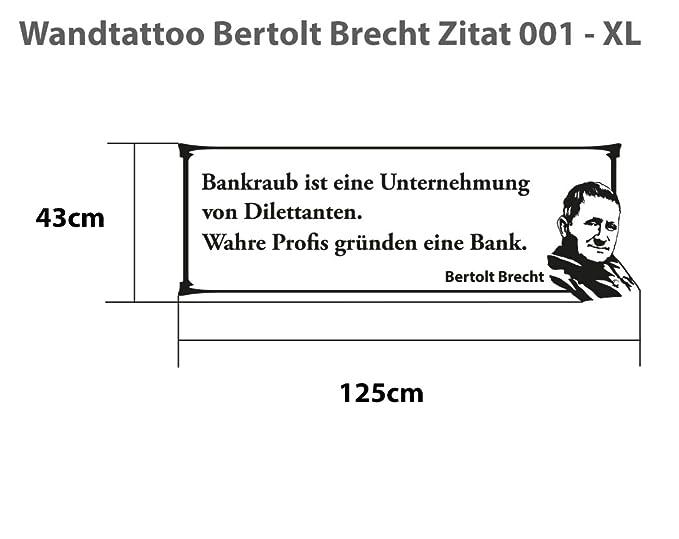 Wandtattoo Bertolt Brecht Zitat 001 Xl 125cm X 43cm 23
