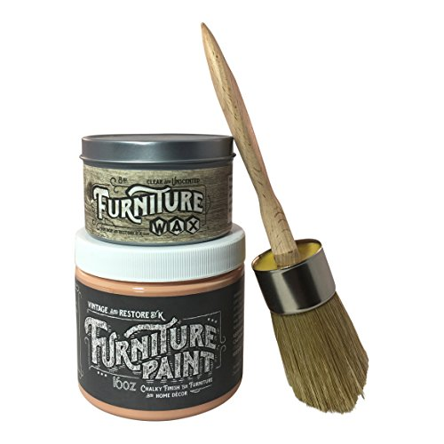 vintage-and-restore-by-k-furniture-chalk-paint-kit-1-pint-paint-8oz-clear-wax-brush-lobster-bisque