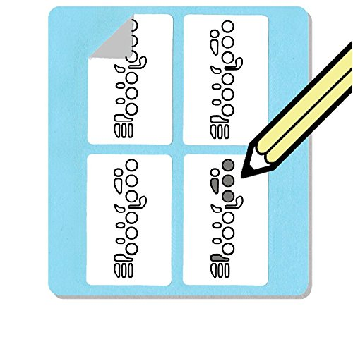 Flute Fingering Stickers Set (500 Pack) Great for beginners and teachers Whirlwindpress
