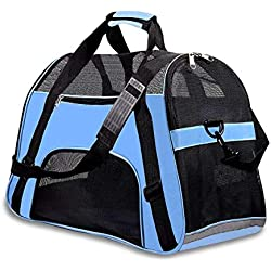 Moligh doll Pet Travel Carriers Soft Sided Portable Bags Dogs Cats Airline Approved Dog Carrier(2018 Upgraded Version)