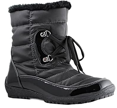 Amazon.com | Sporto Women's Mini Snow Boots | Snow Boots