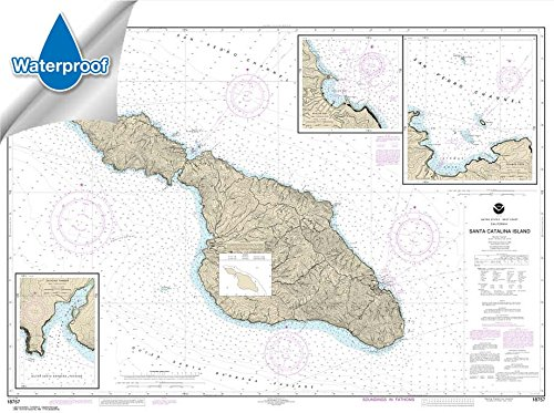 NOAA Chart 18757: Santa Catalina Island; Avalon Bay; Catalina Harbor; Isthmus Cove (WATERPROOF) 33.9 x 45.5