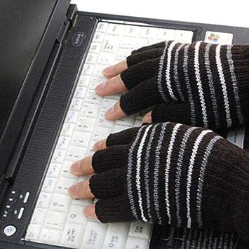 Automne et Hiver WZC La moiti/é Gants doigts pointer du doigt,A dactylographie Chaleur Bureau d/écriture