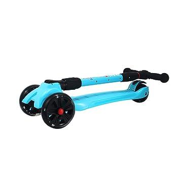 Scooter / Juguetes para Niños Rueda de desbaste abatible/Destello de Cuatro Ruedas/3 Años - 12 Años (Color : Blue): Amazon.es: Hogar