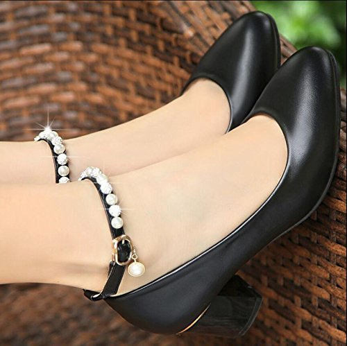 Sko And Rund 39 Khskx Women's Women Shoes Kvinner Workers svart Enslige Comfortable Kjole Head Work Arbeidere Kvinners 5cm Arbeids Og Single 39 Khskx 5cm Round Hode With black Med Komfortabel Dress wgqRgE