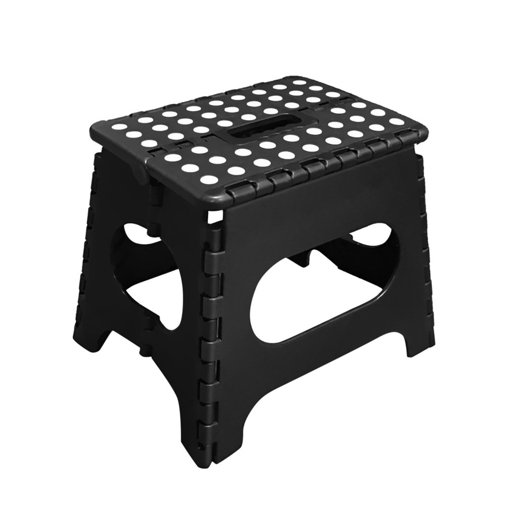 MARVO 11-Inches Plastic Foldable Step Stool, Black COMINHKPR145624