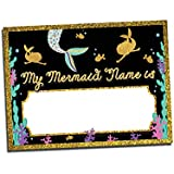 Mermaid Name Tags for Kids Birthday Party or Game   Includes: 25 Nametag Stickers   Design by Katie Doodle (BD121)