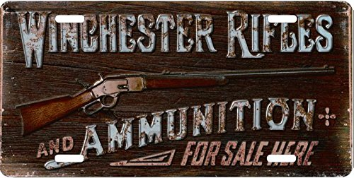 (License Plate Winchester Rifles And Ammo Sold Here License Plate Auto)
