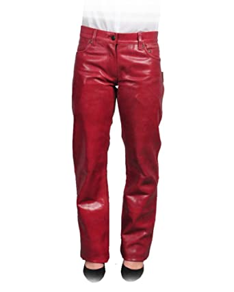bec4f0cb30747 Leatherjeans for Men and Women's Glazed Leather Pants at Amazon ...