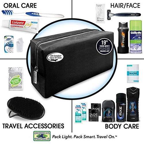 0c201b77ccba Convenience Kits Men's Premium 20 Count Necessities Travel Kit, Featuring:  Dove Men & Care...