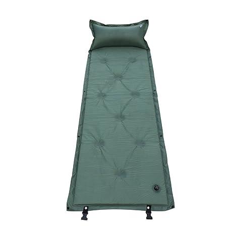 Único persona hinchable Aire Colchón Cojín Arrugas Saco de dormir Cama Outdoor Camping Mat Viaje Picnic
