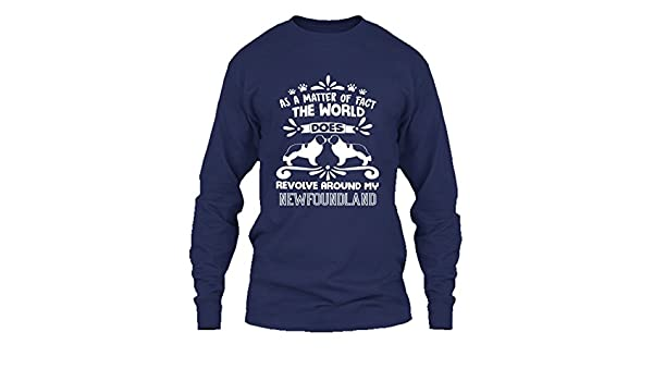 b36d86353 Addblack Newfoundland T Shirt - Revolve Around My Newfoundland Cool T  Shirts Design   Amazon.com