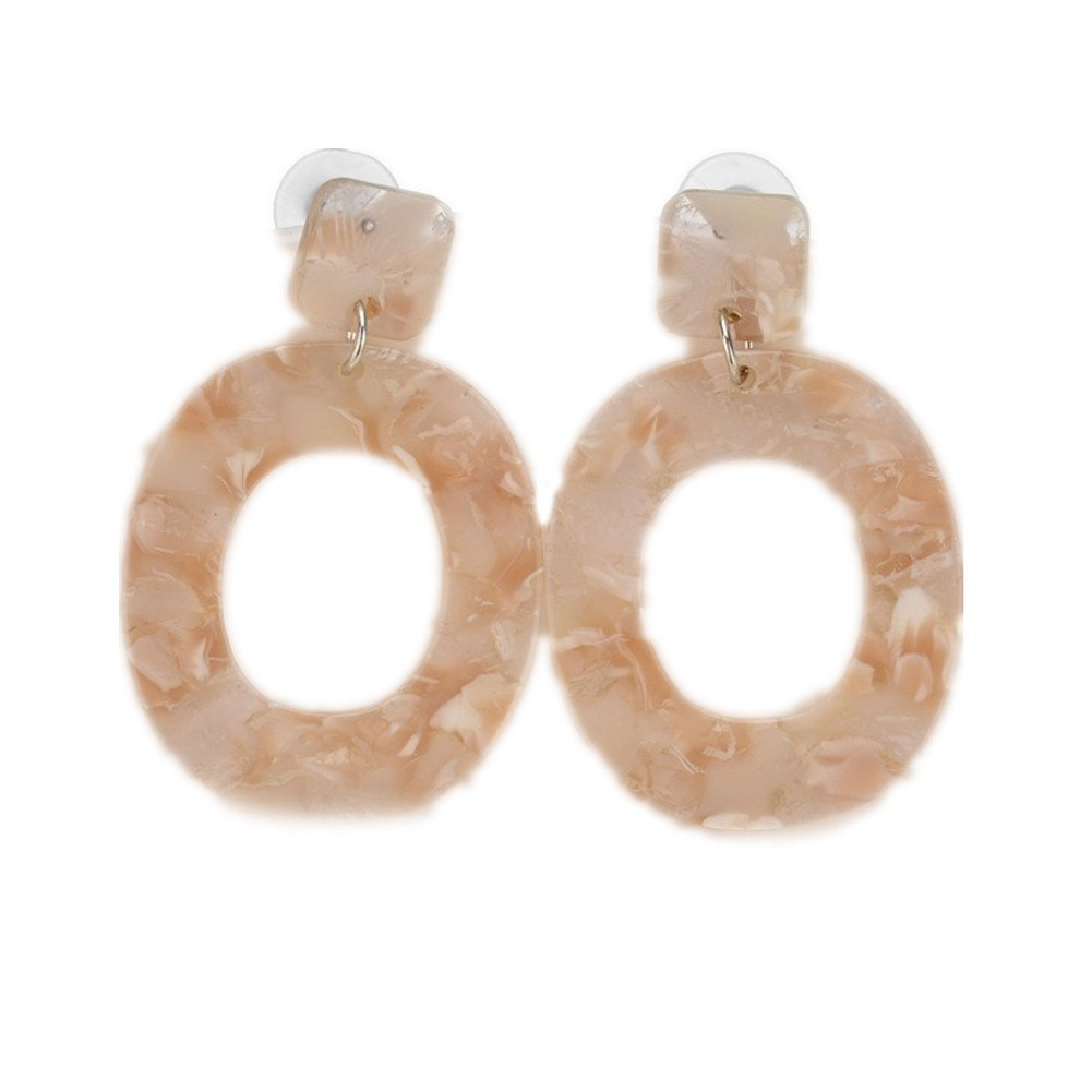 Acrylic Earrings for Women Fashion Cellulose Acetate Earrings Oval Pendient Fashion Jewelry SIYWINA CSEH012-1